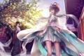 Картинка девочки, платье, веер, арт, vocaloid, luo tianyi, yuezheng ling
