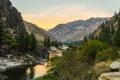 Картинка природа, горы, Salmon River Valley, река