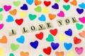 Картинка colorful, сердечки, love, I love you, heart, romantic