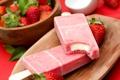 Картинка ягоды, клубника, мороженое, лакомство