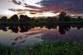 Картинка закат, пейзаж, река, природа