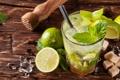 Картинка коктейль, ice, drink, mojito, cocktail, lime, мохито