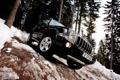 Картинка лес, снег, деревья, Jeep, Commander