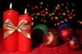 Картинка шарики, праздник, рождество, Свечи, Новый год