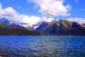 Картинка небо, облака, снег, вершины, Аляска, США, горы Чугач