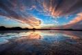 Картинка вода, закат, озеро