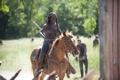 Картинка зомби, лошадь, Michonne, The Walking Dead, сериал, Ходячие мертвецы