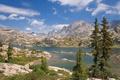 Картинка USA, лес, озеро, природа, Bridger National Forest, горы, Bridger Wilderness