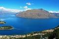 Картинка море, горы, побережье, Новая Зеландия, панорама, залив, Nelson