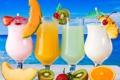 Картинка море, киви, коктейль, фрукты, fresh, drink, cocktail