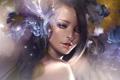 Картинка взгляд, девушка, абстракция, арт, плечо