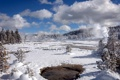 Картинка winter, Norris Geyser Basin, landscape, Yellowstone National Park