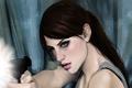 Картинка пистолет, Арт, Jill Valentine, девушка, Джил Валентайн, выстрел, resident evil