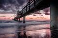 Картинка пейзаж, мост, море
