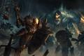 Картинка оружие, воин, арт, монстры, битва, нежить, Diablo III