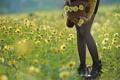 Картинка цветы, девушка, лето