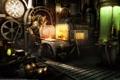 Картинка металл, меч, арт, печь, мастерская, кузнец, thibaut claeys