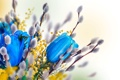 Картинка весна, верба, willow twig, тюльпаны, tulips, spring, flowers