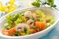Картинка pepper, грибы, mushrooms, салат, тарелка, dill, lettuce