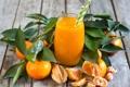 Картинка мандарины, цитрусы, стакан, сок, фрукты, фреш