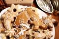 Картинка корица, пряности, фигурки, еда, печенье, десерт, выпечка