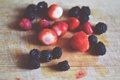 Картинка лето, ягоды, клубника, ежевика
