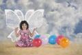 Картинка настроение, шары, девочка