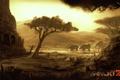 Картинка саванна, руины, Far Cry 2, слоны