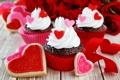 Картинка сердечки, love, пирожное, десерт, heart, выпечка, сладкое