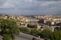 Картинка небо, мост, река, дома, Италия, панорама, Флоренция