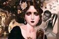 Картинка девушка, Портрет, совы, клоуны