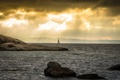 Картинка море, пейзаж, лодка