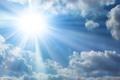 Картинка white, sunshine, blue, clouds