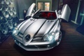 Картинка Mercedes-Benz, SLR, Front, AMG, Tuning, Supercar, Silver
