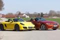 Картинка Cayman, Порше, Porsche, BMW, БМВ, передок, суперкары