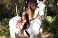 Картинка девушка, конь, лошадь, блондинка, Veronika Fasterova