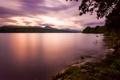 Картинка облака, деревья, горы, небо, вечер, озеро