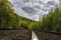 Картинка железная дорога, пейзаж, небо