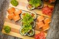 Картинка суши, sushi, роллы, salad, rolls, салат, имбирь