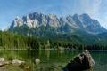 Картинка зелень, деревья, горы, природа, озеро, река, фото