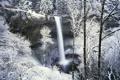 Картинка зима, природа, водопад