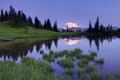 Картинка лес, трава, пейзаж, горы, озеро, отражение, Природа
