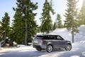 Картинка Зима, Авто, Снег, Лес, Серый, Land Rover, Range Rover