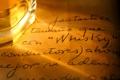 Картинка текст, лист, бумага, надписи, бокал, записи, виски