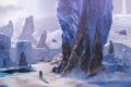 Картинка снег, горы, скалы, art, halo, Sidewinder