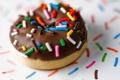 Картинка еда, шоколад, пончик