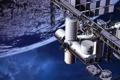 Картинка планета, станция, орбита, МКС