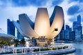 Картинка здание, набережная, небоскребы, кран, Singapore