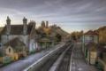 Картинка city, город, фотограф, photography, Lies Thru a Lens, Corfe Castle Station