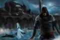 Картинка ночь, город, мечеть, Assassins Creed, альтаир, Revelations, эцио